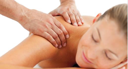 Toucher massage du dos