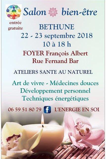 Salon Bien-être – BETHUNE le 22 et 23 Septembre 2018